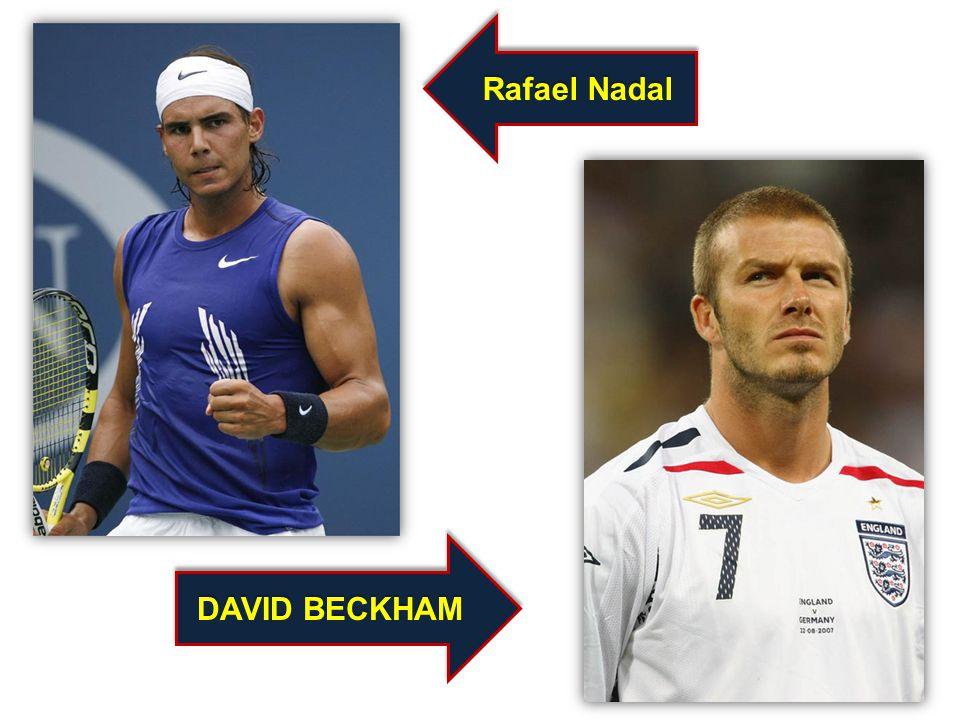 Rafael Nadal DAVID BECKHAM