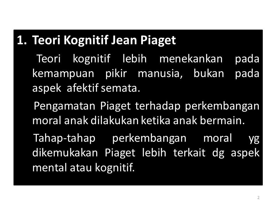 Teori Kognitif Jean Piaget