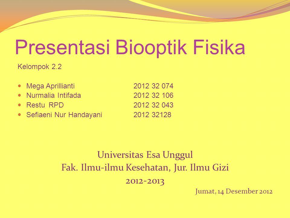 Presentasi Biooptik Fisika