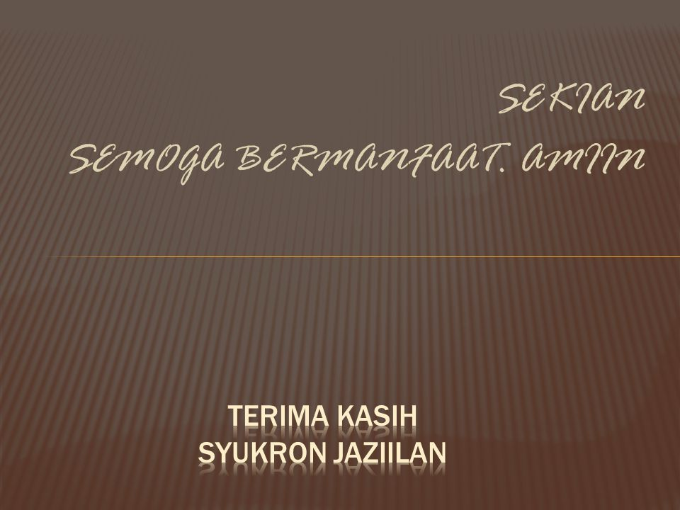 TERIMA KASIH SYUKRON JAZIILAN
