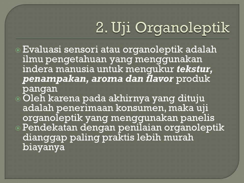 2. Uji Organoleptik