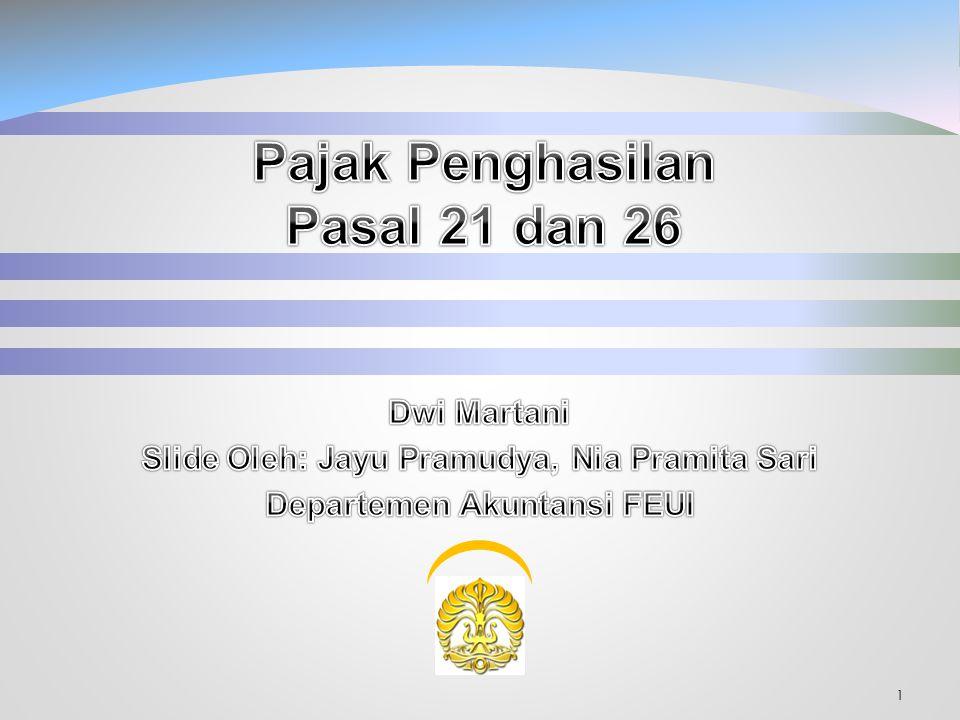 Pajak Penghasilan Pasal 21 dan 26