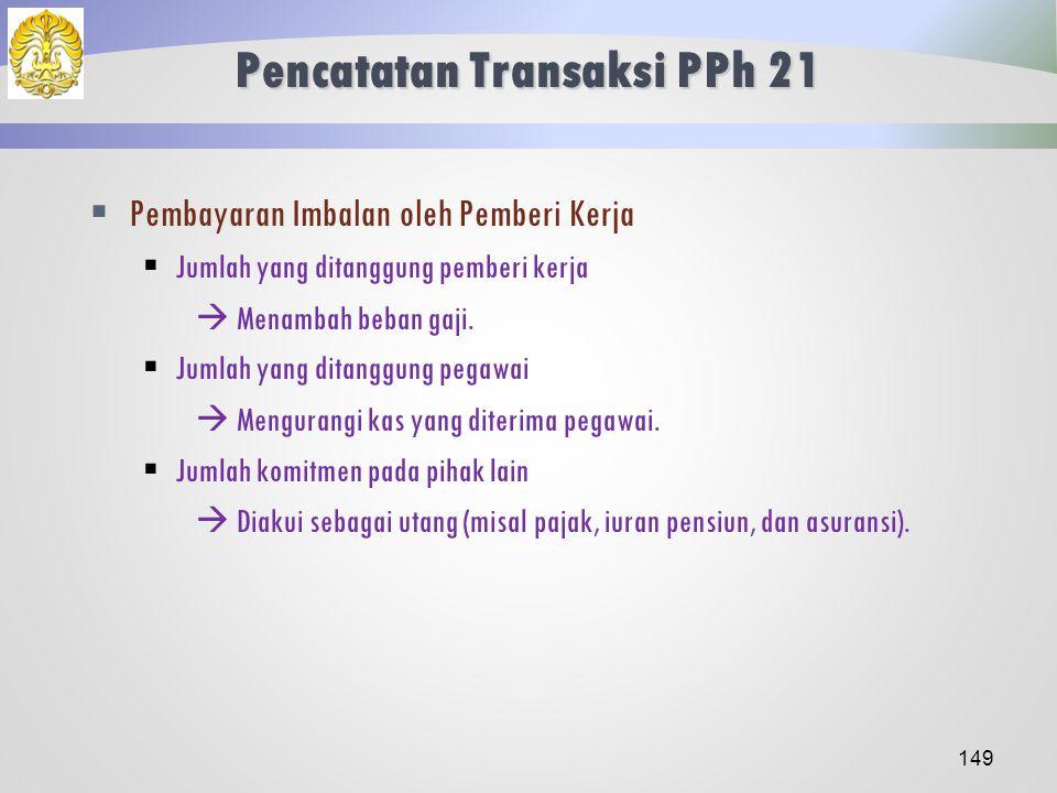 Pencatatan Transaksi PPh 21