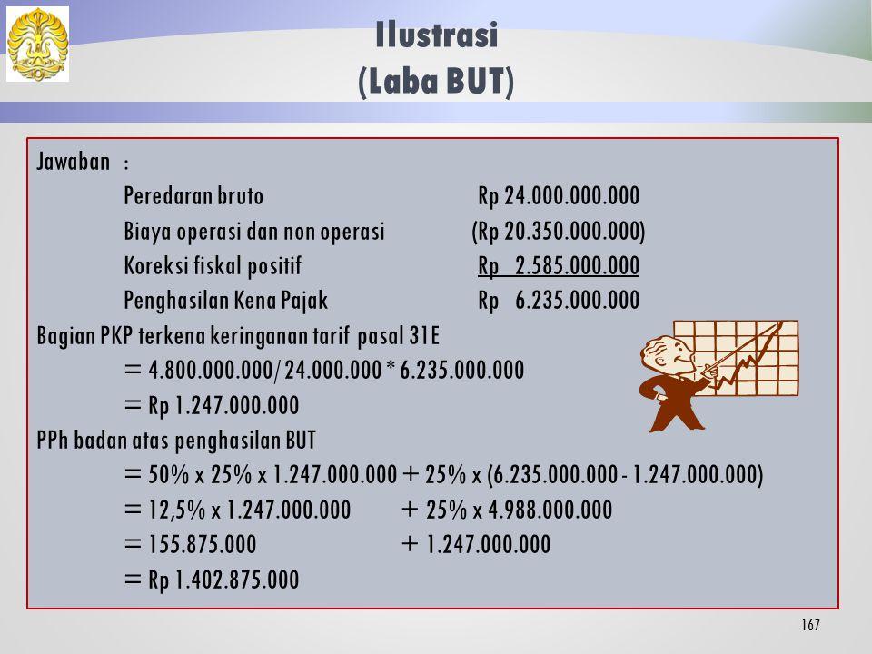Ilustrasi (Laba BUT) Jawaban : Peredaran bruto Rp 24.000.000.000