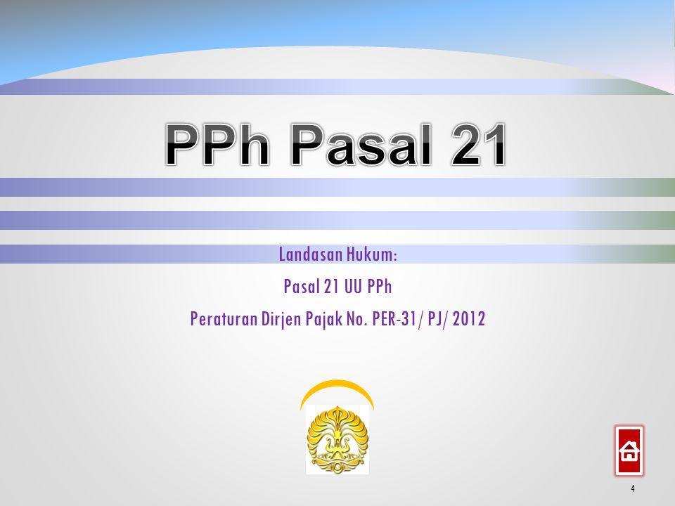 Peraturan Dirjen Pajak No. PER-31/ PJ/ 2012