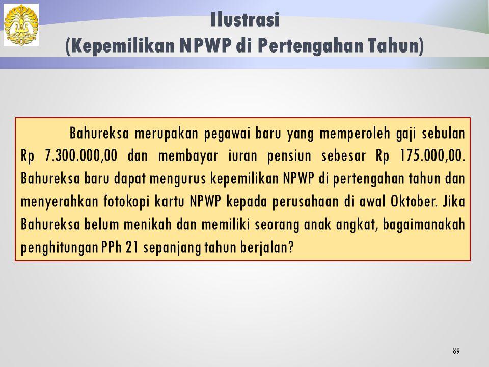 Ilustrasi (Kepemilikan NPWP di Pertengahan Tahun)