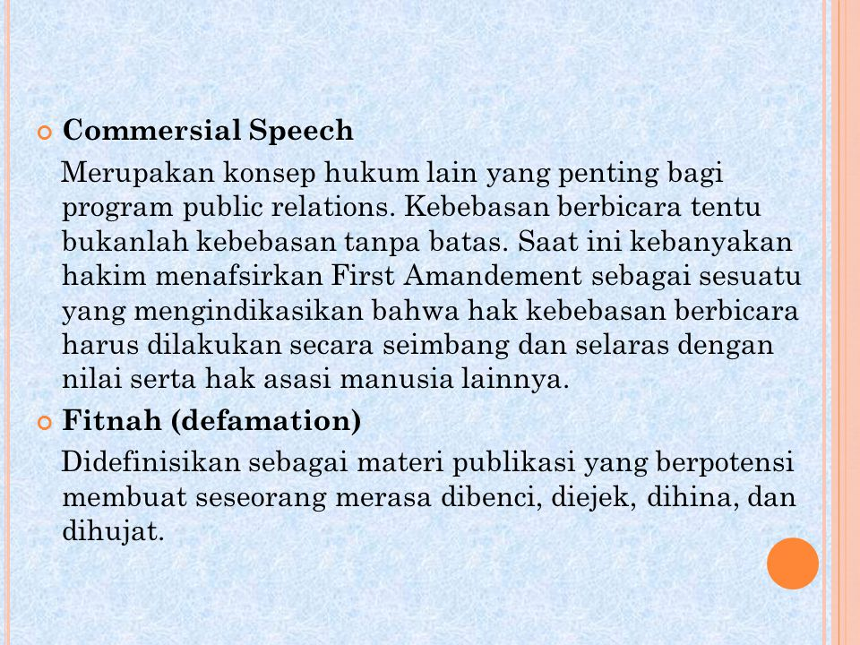 Commersial Speech