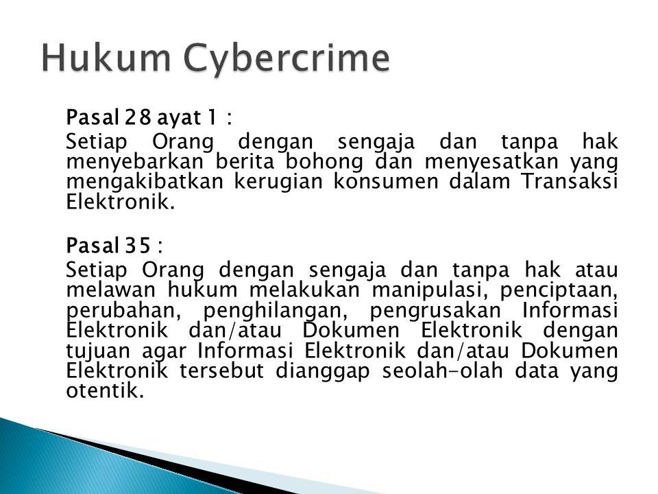 Hukum Cybercrime