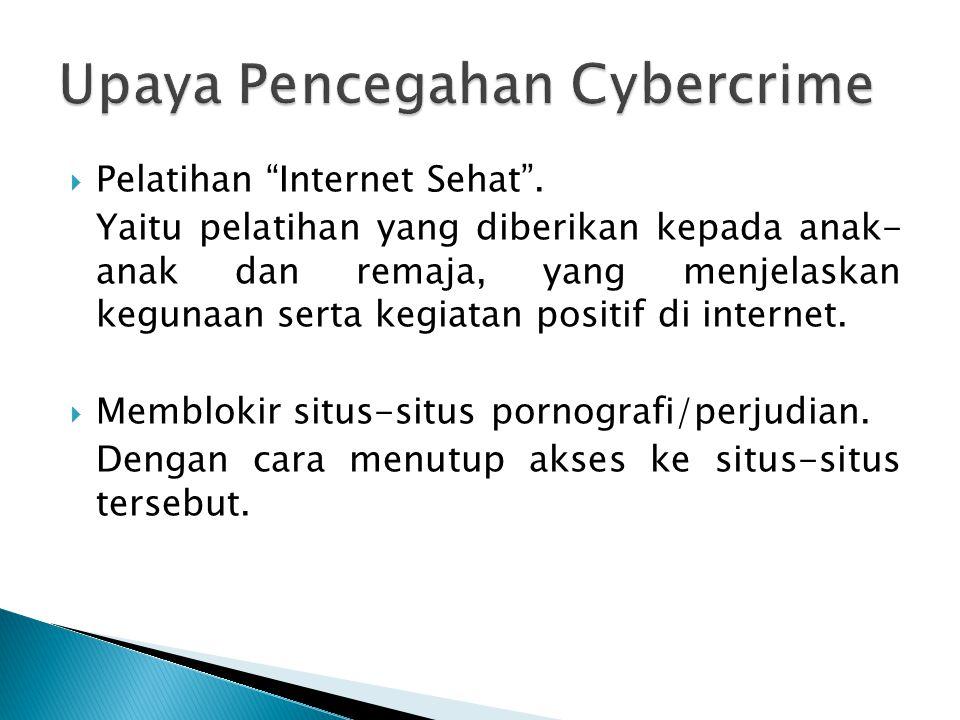 Upaya Pencegahan Cybercrime