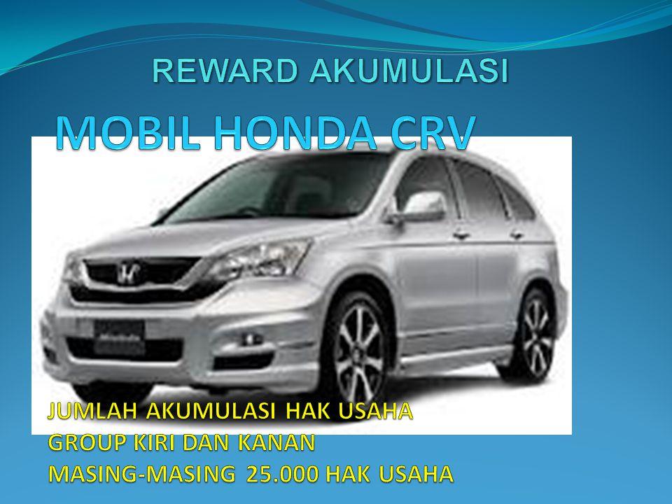 MOBIL HONDA CRV REWARD AKUMULASI JUMLAH AKUMULASI HAK USAHA