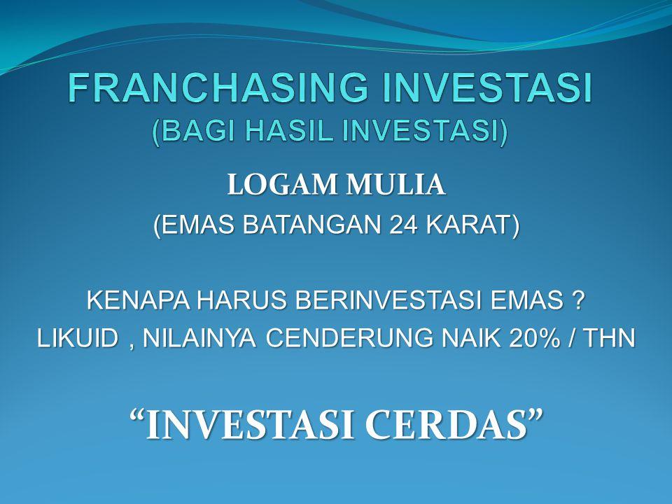FRANCHASING INVESTASI (BAGI HASIL INVESTASI)