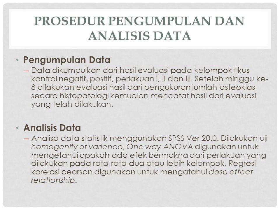 Prosedur Pengumpulan dan Analisis Data