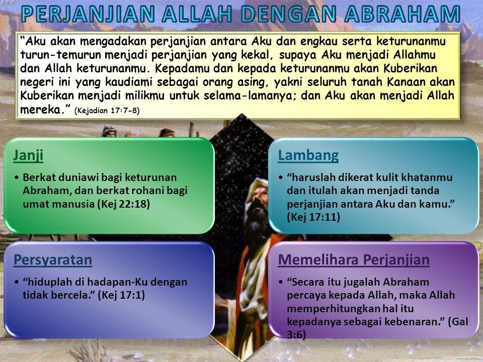 PERJANJIAN ALLAH DENGAN ABRAHAM
