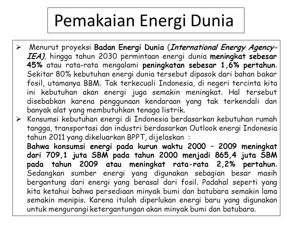 Pemakaian Energi Dunia