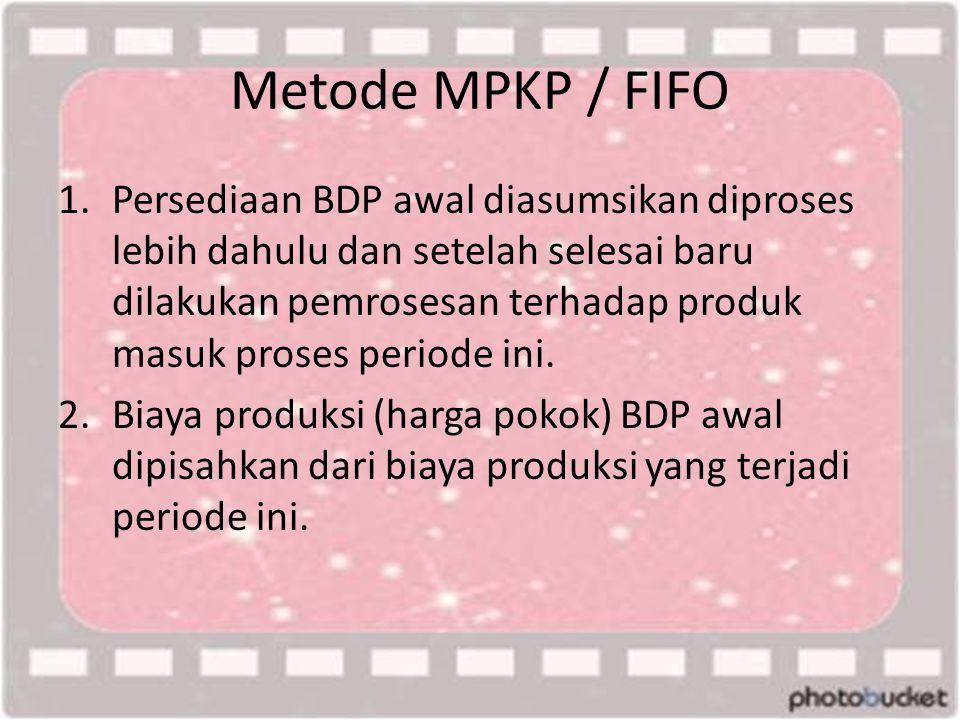 Metode MPKP / FIFO