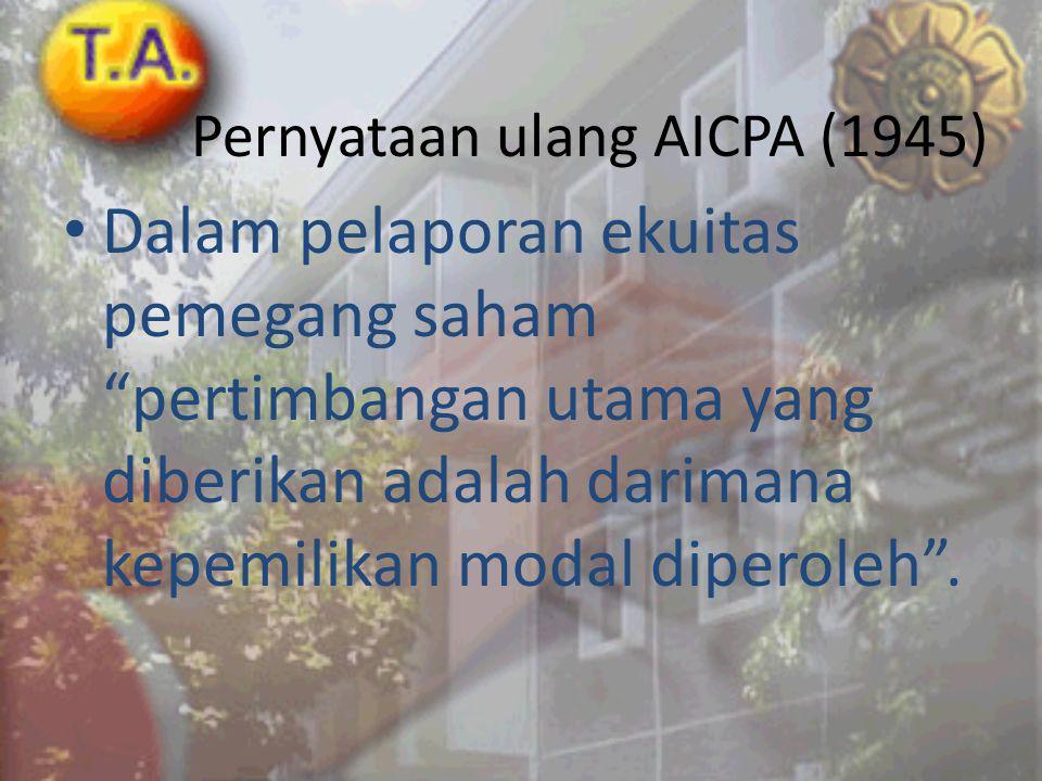 Pernyataan ulang AICPA (1945)