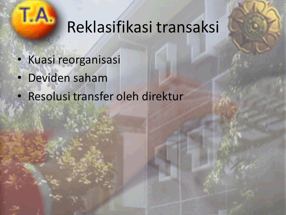 Reklasifikasi transaksi