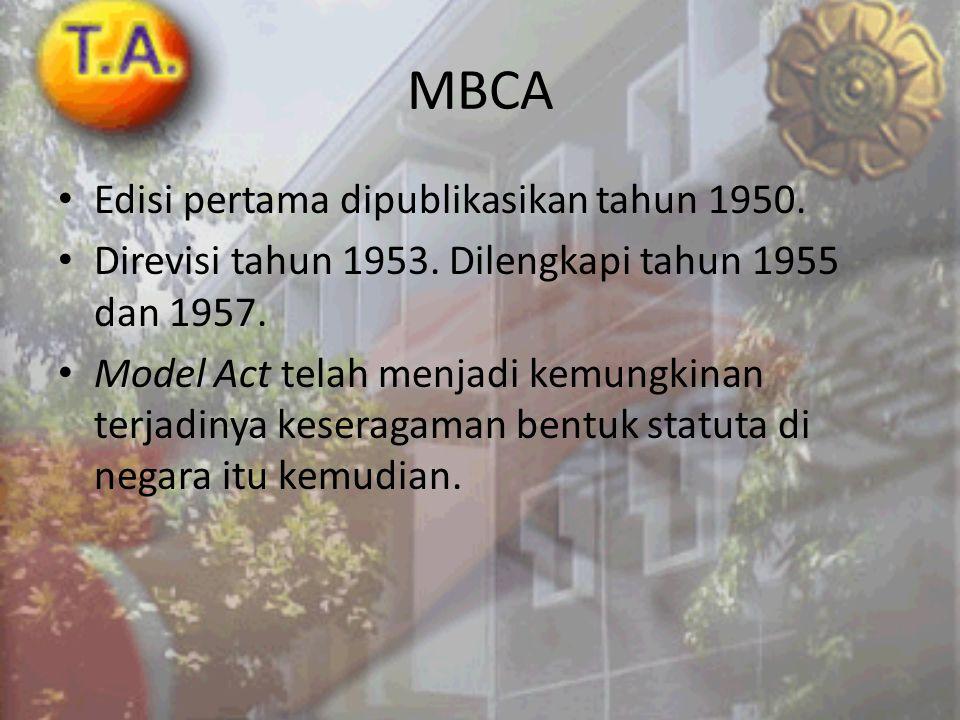 MBCA Edisi pertama dipublikasikan tahun 1950.