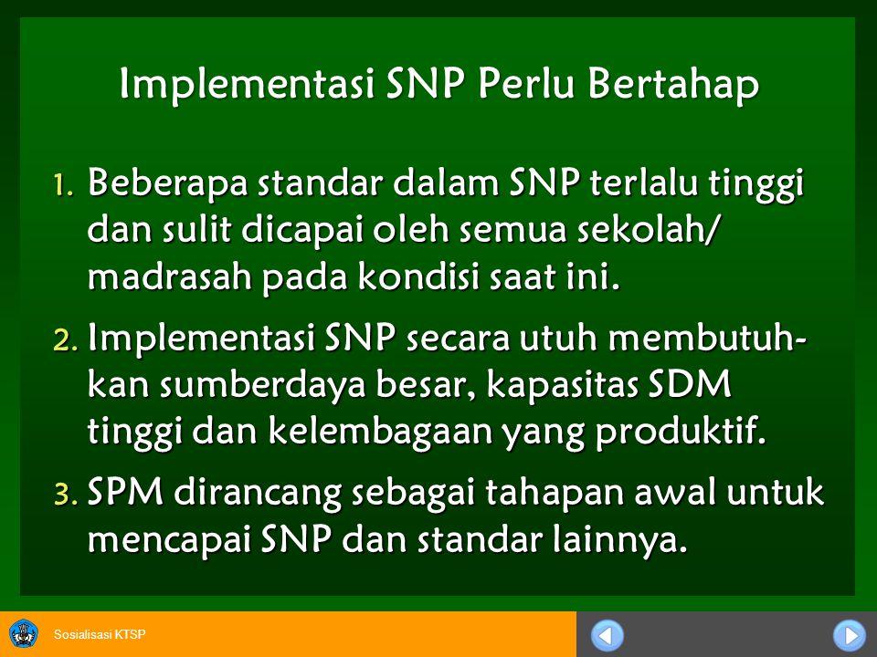 Implementasi SNP Perlu Bertahap
