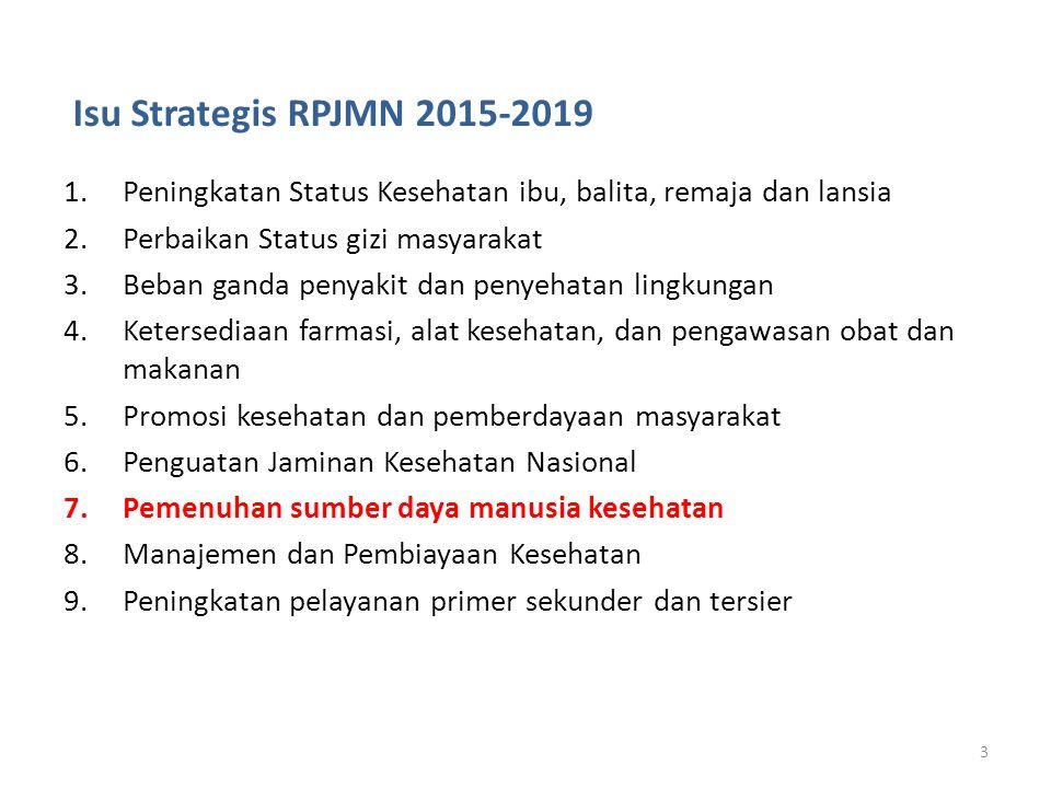 Isu Strategis RPJMN 2015-2019 Peningkatan Status Kesehatan ibu, balita, remaja dan lansia. Perbaikan Status gizi masyarakat.