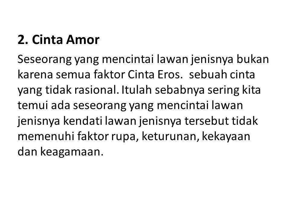 2. Cinta Amor
