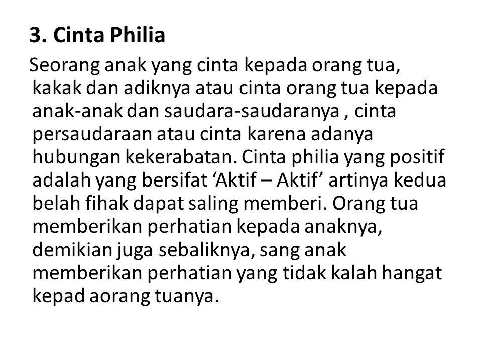 3. Cinta Philia