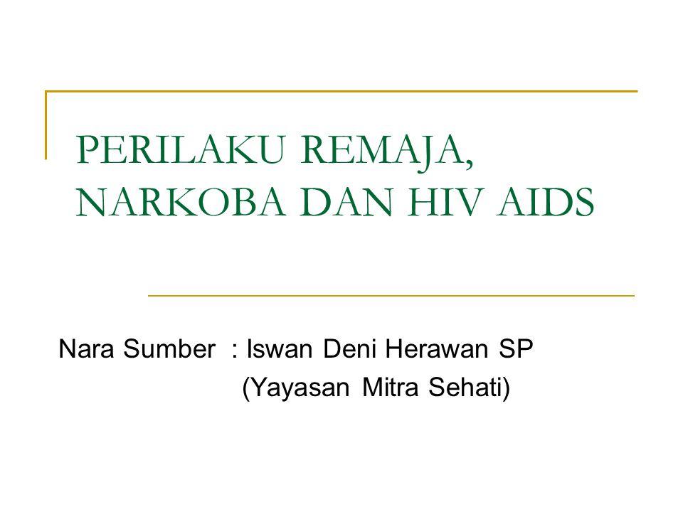 PERILAKU REMAJA, NARKOBA DAN HIV AIDS