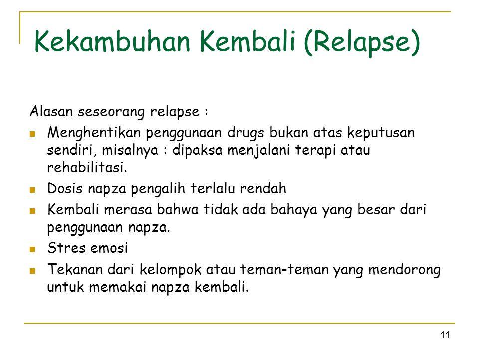 Kekambuhan Kembali (Relapse)