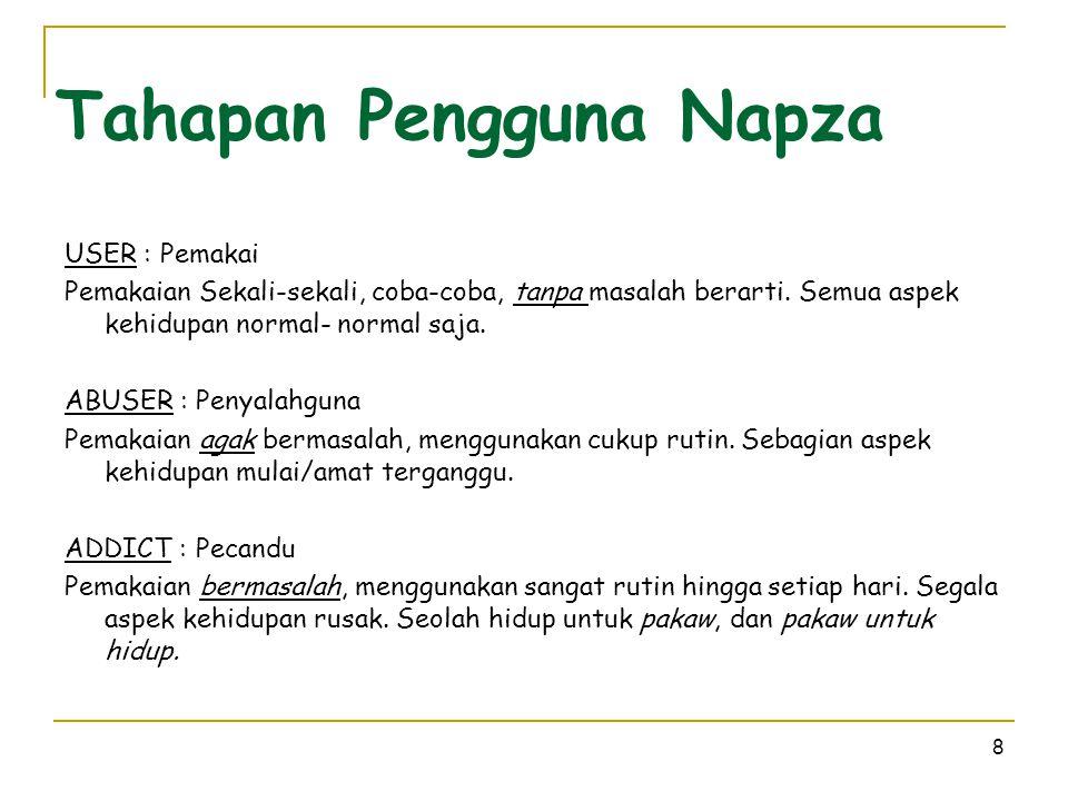Tahapan Pengguna Napza