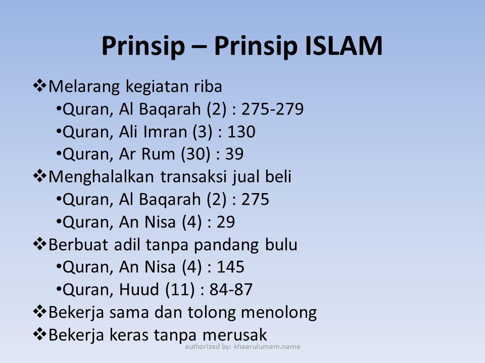 Prinsip – Prinsip ISLAM