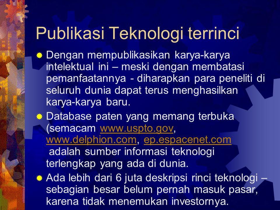 Publikasi Teknologi terrinci