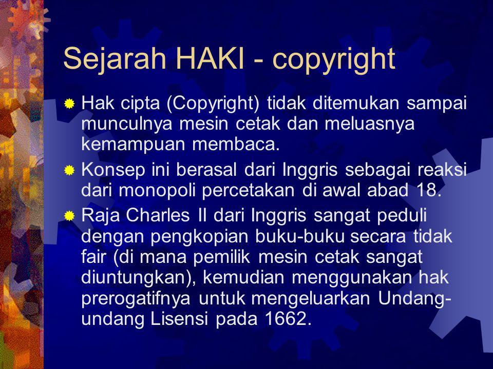 Sejarah HAKI - copyright