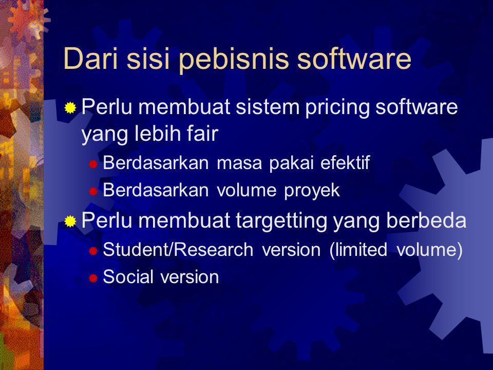 Dari sisi pebisnis software