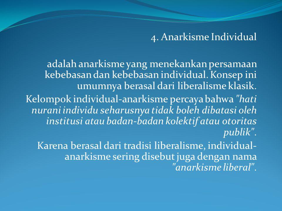 4. Anarkisme Individual