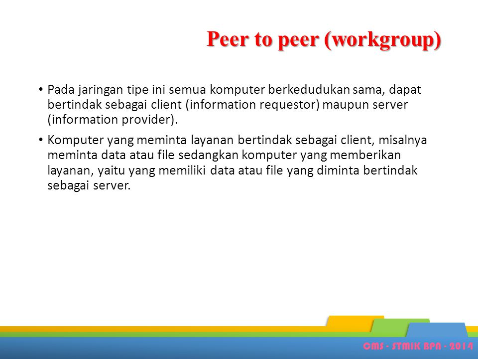 Peer to peer (workgroup)