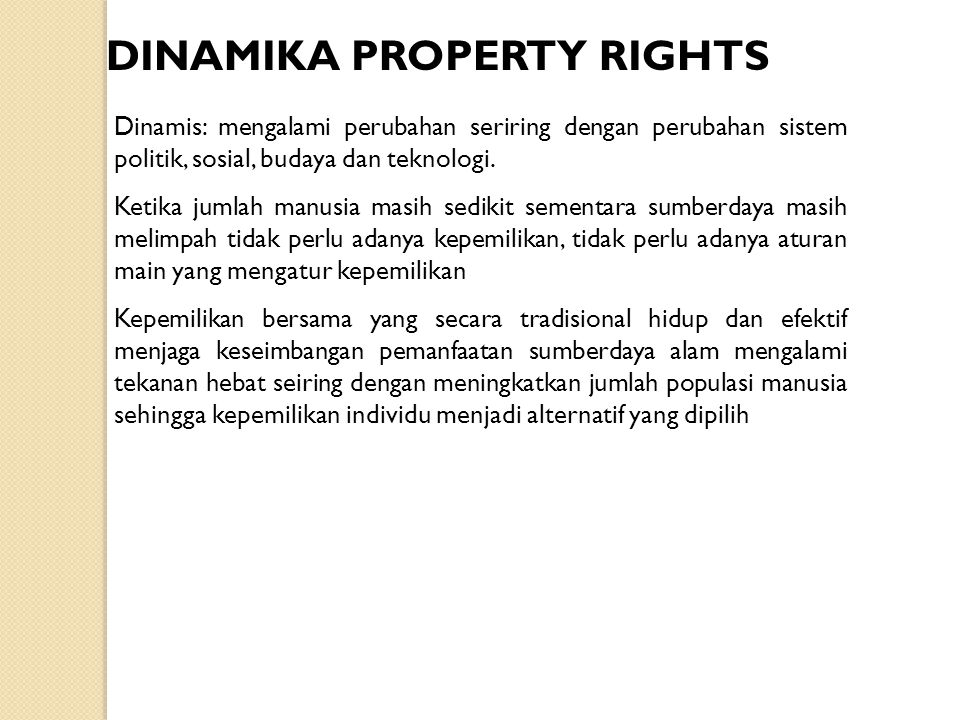 DINAMIKA PROPERTY RIGHTS