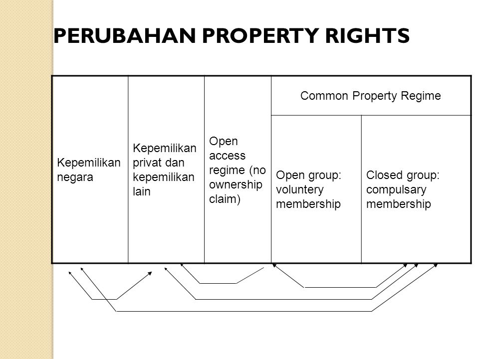 Common Property Regime