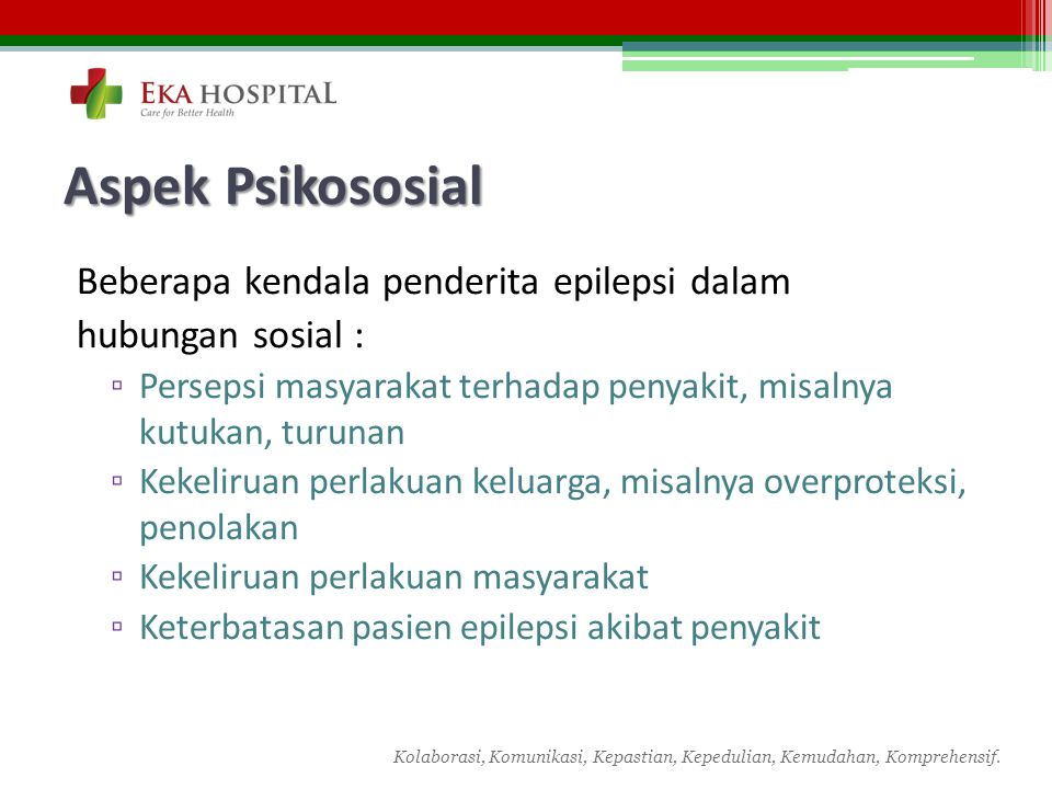 Aspek Psikososial Beberapa kendala penderita epilepsi dalam