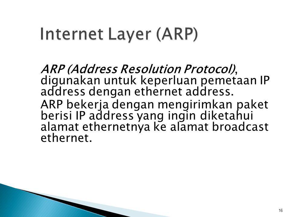 Internet Layer (ARP)