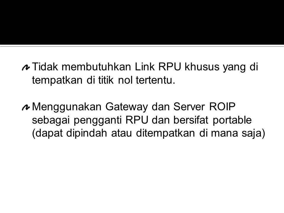 Tidak membutuhkan Link RPU khusus yang di tempatkan di titik nol tertentu.