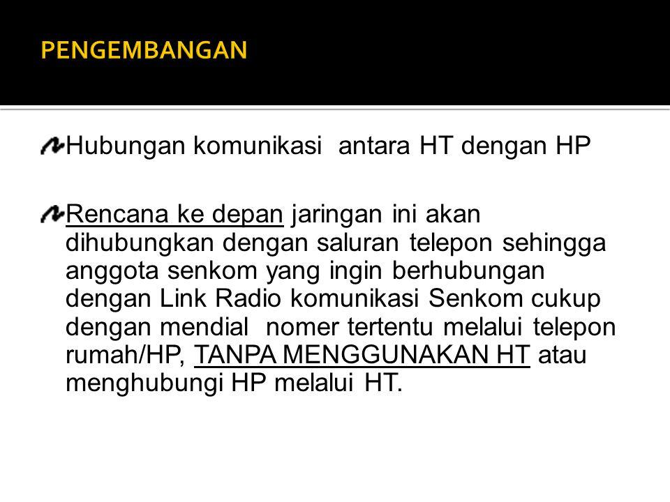 PENGEMBANGAN Hubungan komunikasi antara HT dengan HP.