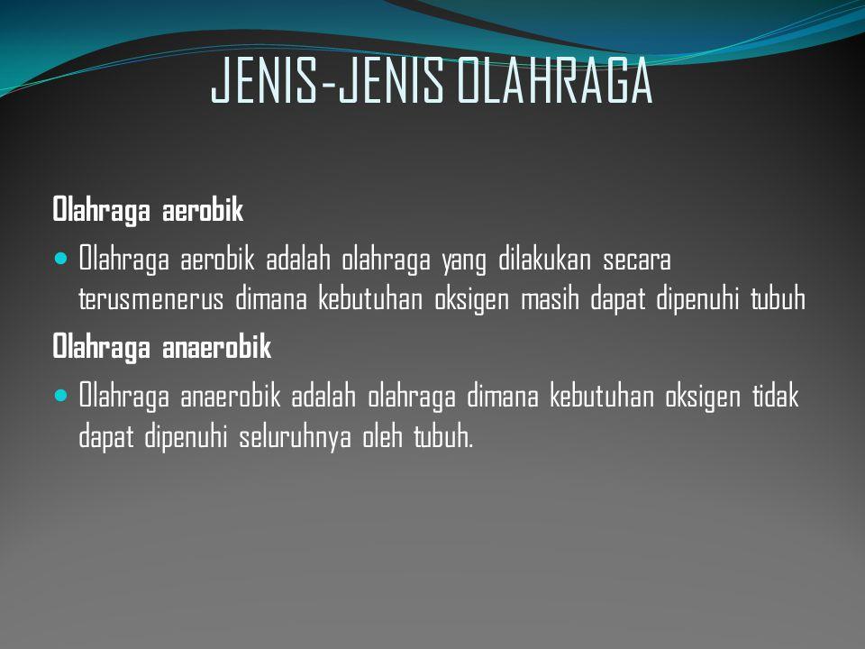 JENIS-JENIS OLAHRAGA Olahraga aerobik