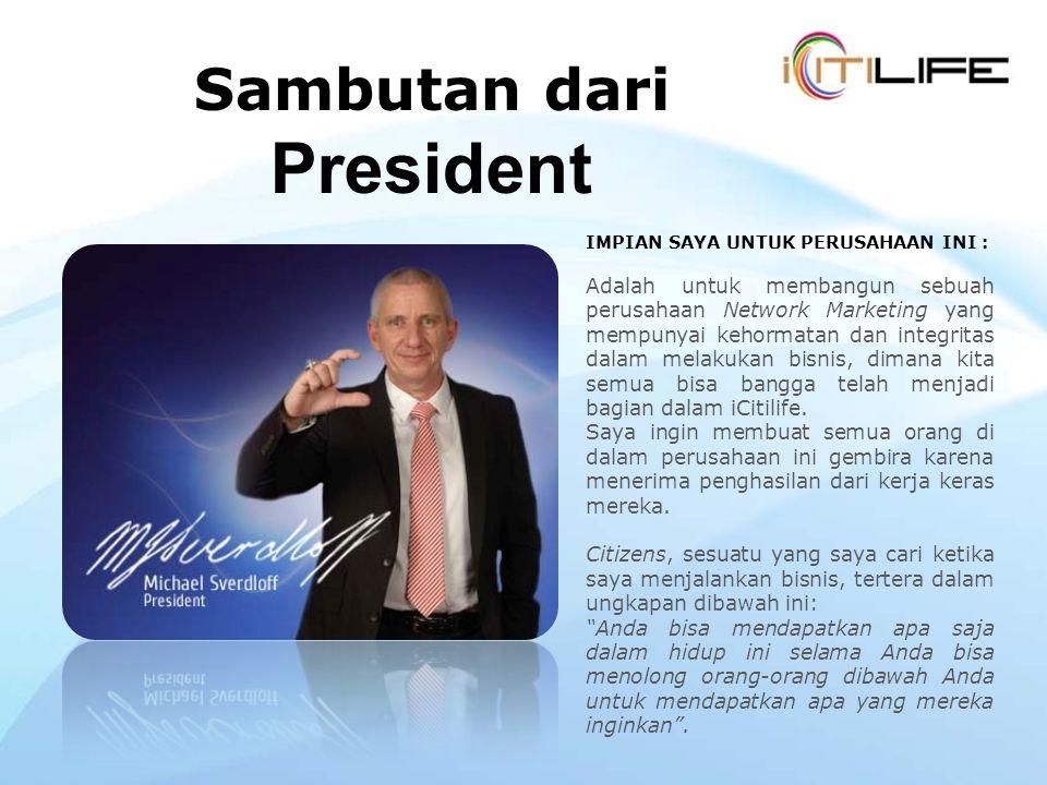 Sambutan dari President