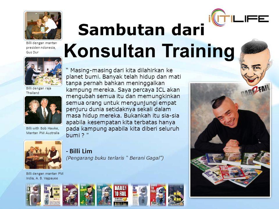 Sambutan dari Konsultan Training