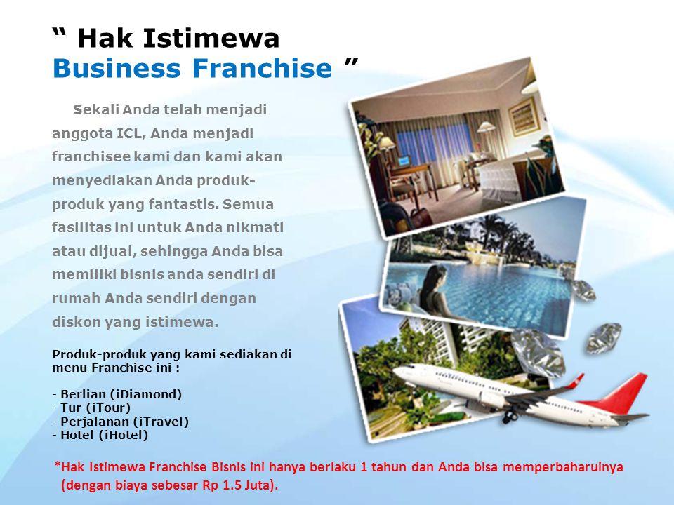 Hak Istimewa Business Franchise