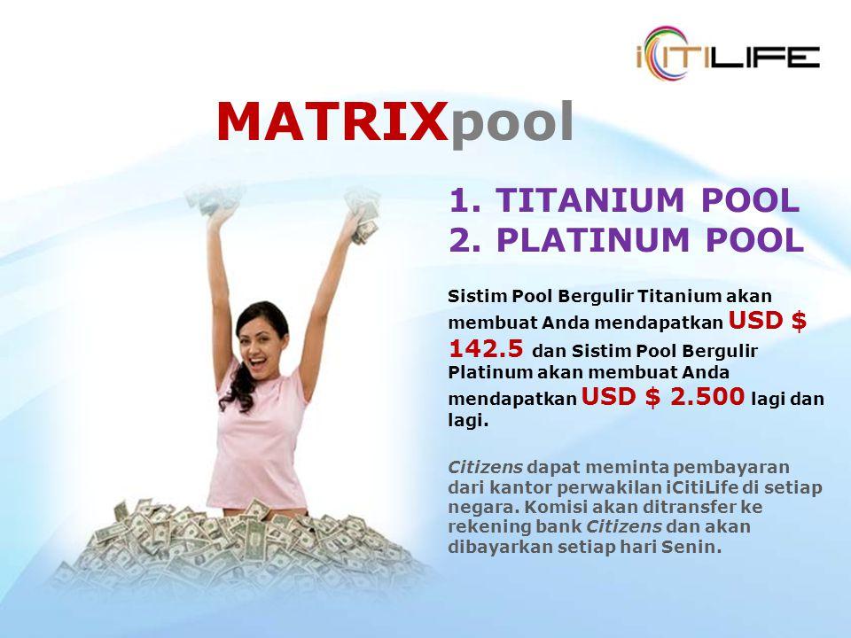 MATRIXpool TITANIUM POOL PLATINUM POOL