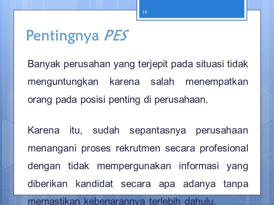Pentingnya PES