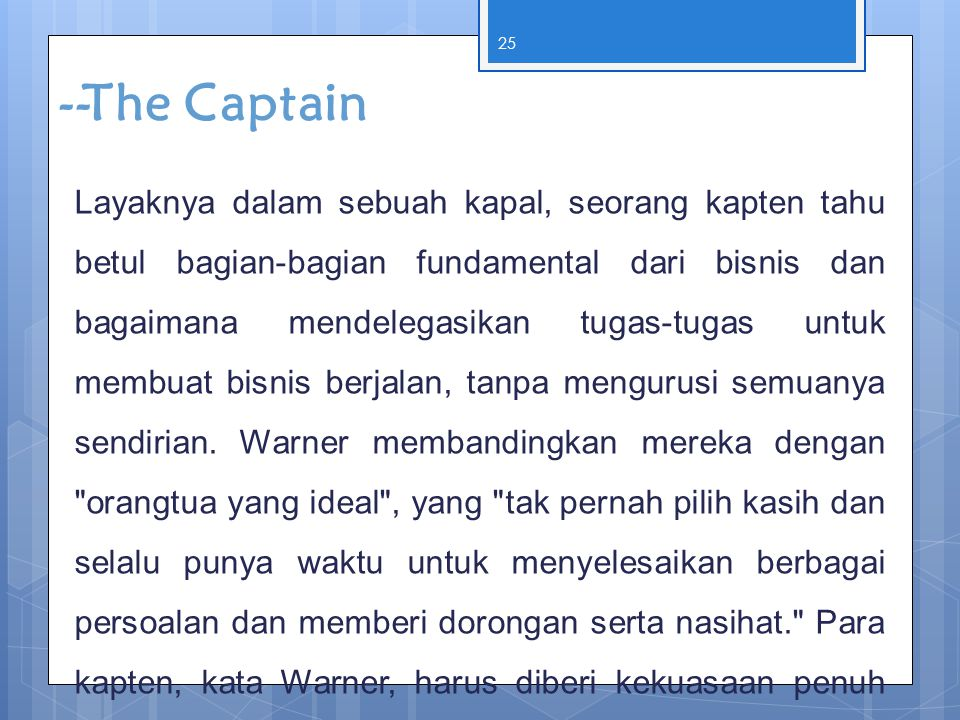 --The Captain