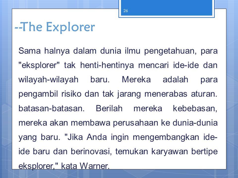 --The Explorer