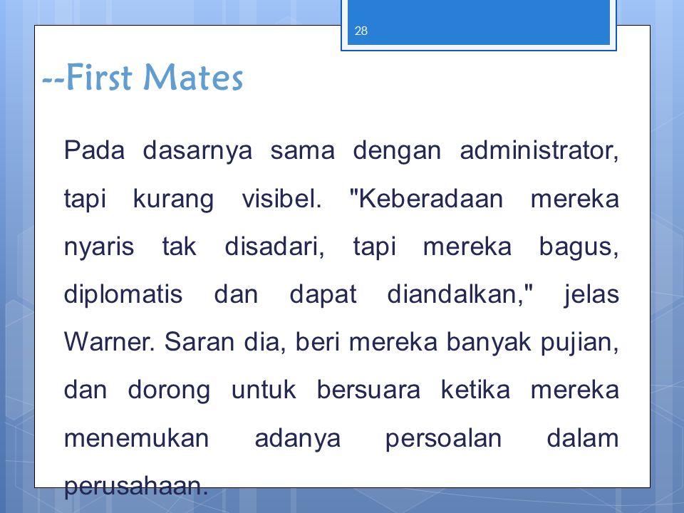 --First Mates